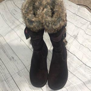 NWT- LL Bean Tall Boots Brown Suede